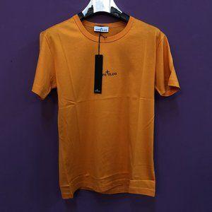 "Stone Island Men Orange T-Shirt ""M"""